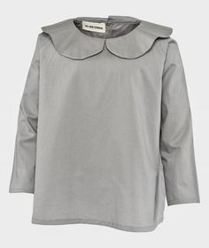 As We Grow Peter Pan Collar Shirt Grey Grå