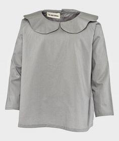 As We Grow Peter Pan Collar Shirt Grey Grå