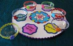 Make Your Own Passover Seder Plate – Free Passover Seder Plate templates and instructions image from: http://www.parentdish.com/2010/03/25/make-and-learn-passover-seder-plate/