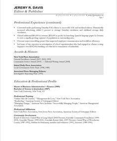 managing editor free resume samples