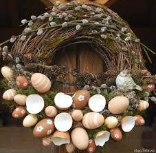 Výsledek obrázku pro velikonoční věnec ze skořápek