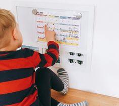 Zeitgefühl für Kinder, Wie lernen Kinder die Zeit, Wie bekommen Kinder ein Gefühl für Zeit, kostenloser Kalender, mit Symbolen und Farben