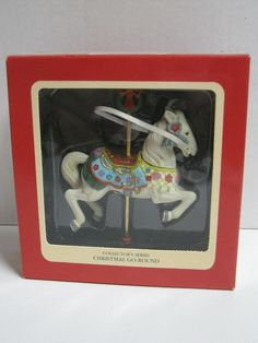 Heirloom Collection Carousel Horse Collectors Series Ornament Christmas Go-Round