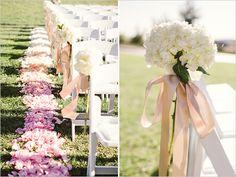 aisle wedding decor #pinkandwhitewedding #ceremonydecor #aislemarkers