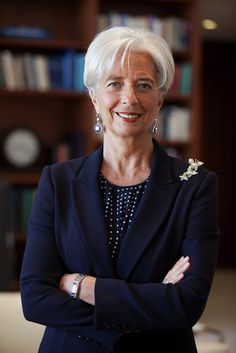 International Monetary Fund Managing Director Christine Lagarde. If silver grey hair suits the style of the most powerful woman in world finance, it should suit everyone.