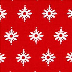 red Michael Miller Christmas fabric with Christmas stars 1