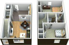 Modern Home Design in 4 Easy Steps 2 Bedroom Townhouse Floor Plans.
