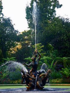 Figurative sculpture fountain. Regents Park, London.