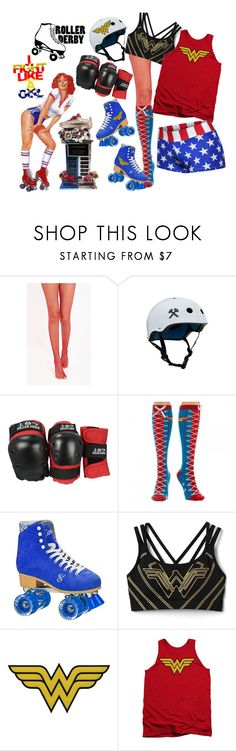 """Roller Derby"" by ilikemike ❤ liked on Polyvore featuring Gap and C&D Visionary"