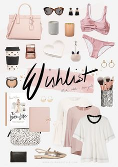 Wishlist   Blush, White & Rose Gold   Shopbop, Forever New, Sportsgirl, H&M, ASOS, Seed, Cotton On + Country Road