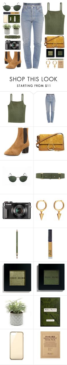"""""""Deserted"""" by monmondefou ❤ liked on Polyvore featuring Vetements, Isabel Marant, Chloé, Ray-Ban, Elie Saab, Clarins, Winky Lux, Bobbi Brown Cosmetics, Miller Harris and Belkin"""