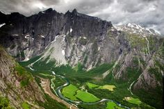 Trollveggen Norway An Aerial View Of Norways Troll Wall