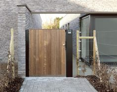 Driveway Gate, Fence Gate, Oak Cladding, Gate Post, Wooden Gates, Front Gates, Home Landscaping, Garden Fencing, Outdoor Living