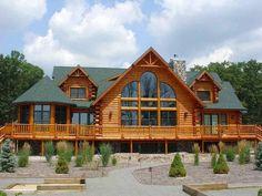 Log Cabin Home Kits, Log Cabin Floor Plans, Log Cabin Living, Small Log Cabin, Log Home Plans, Cabin House Plans, Log Cabin Homes, Log Cabins, Mountain Cabins
