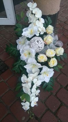 Grave Flowers, Funeral Flowers, Flower Decorations, Wedding Decorations, Xmas Theme, Casket Sprays, Sympathy Flowers, Flower Spray, Black Flowers