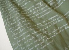 Anne of Green Gables Book Scarf close up.