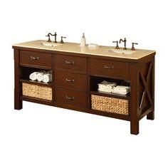 Direct Vanity Sink 70D1-Es Xtraordinary 70-in Espresso Double Sink Bathroom Vanity  Xtraordinary Spa 70-in Espresso Double Sink Bathroom VanityThis is