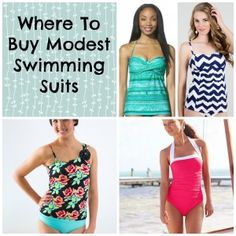 Love these modest swimming suits! #summer #style #swimwear