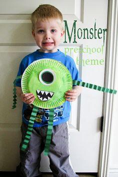 Mommy& Little Helper: Monsters Preschool Theme Fall Preschool, Preschool Projects, Daycare Crafts, Toddler Crafts, October Preschool Themes, Halloween Theme Preschool, Disney Crafts For Kids, Halloween Week, Preschool Classroom