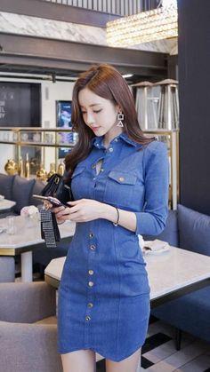South Korea Fashion, Party Dresses With Sleeves, Mini Skirt Dress, Stylish Girl Images, Cool Street Fashion, Beautiful Asian Women, Sexy Asian Girls, Bollywood Fashion, Asian Woman