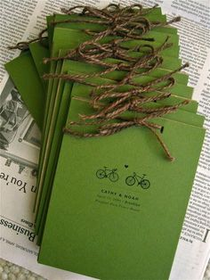 I don't pin wedding invitations but these had bikes on them so they get to be the exception.