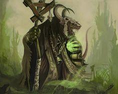 skulls warhammer horns fantasy art artwork rats skaven staff 2560x1600 wallpaper Art HD Wallpaper