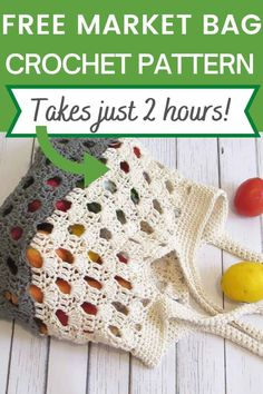 Crochet Market Bag, Crochet Tote, Crochet Handbags, Crochet Purses, Crochet Gifts, Free Crochet, Knit Crochet, Crochet Blanket Patterns, Crochet Stitches