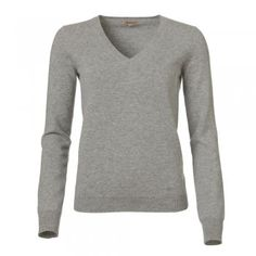 Grey Cashmere V-Neck Jumper - Our fabulous collection of cashmere jumpers work really well with our jackets. The sliver grey fabric is cashmere. Features include our wolfhound logo in tonal threads on the bottom left hand side and a v-neck. Cashmere Jumper, Wolfhound, Grey Fabric, Jumpers, Knitwear, Women Wear, Logo, How To Wear, Jackets