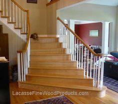 Good Oak Stair With White Spindles