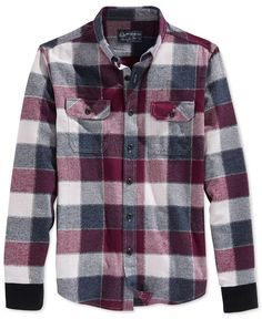 American Rag Wright Plaid Shirt Jacket, Only at Macy's