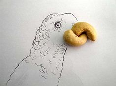 Food fascinate and inspire. For each series of drawings artist Victor Nunez takes various foods and creates amazing sketches decorated with food pieces. Some food artworks are complex, but simple decorating ideas can be used by anyone. Lushome shows these creative designs to inspire parents and kids