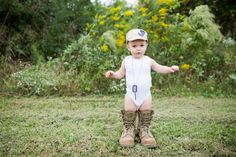 A Military Story: {Babies} Daddy's Boots and Hat