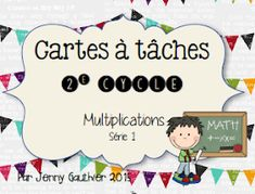 La classe de Mme Jenny: Cartes à Tâches Teaching Math, Teaching Resources, School Organisation, Primary Maths, Cycle 3, 4th Grade Math, Home Schooling, Elementary Math, Groupes