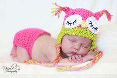 @Nicole Burkhart  If this baby is a girl... this may be my first project for you!!    Newborn Photography Prop Sleepy Owl Hat and by LoveMeRaggedbyTracy, $40.00