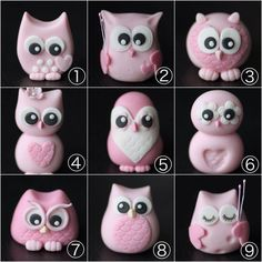 Cupcakes à la mode fondant anniversaire fimo Ideas - cupcake versieren Polymer Clay Kunst, Polymer Clay Owl, Polymer Clay Animals, Owl Cakes, Bird Cakes, Ladybug Cakes, Clay Projects, Clay Crafts, Felt Crafts