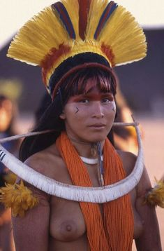 Xingu Peoples - Almost Lost Tribal People, Tribal Women, Indian Tribes, Native Indian, Nam June Paik, Amazon Tribe, Native Girls, Xingu, Indigenous Tribes