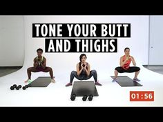 Try these fat-blasting workouts to get rid of cellulite on your butt, thighs, and belly. Plus, check out the tips to take your results to the next level. Video Sport, Fitness Diet, Video Fitness, Female Fitness, I Work Out, Butt Workout, How To Do Yoga, Fun Workouts, Body Workouts