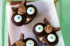 Owl Cupcakes by Taste.Com.Au. Add some fun to your parties with this exciting variation on chocolate cupcakes!