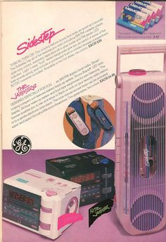 Kmart- Teen Magazine August 1987 Fashion Advertorial '80s Sidestep Boombox