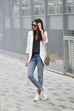 Blazer blanca para todos tus looks - ELLE.es