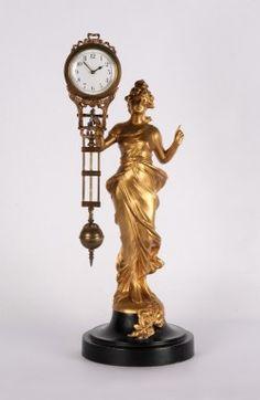 8-day swinging Diana mystery clock