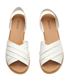 Sandals in imitation leather.  | H&M Shoes