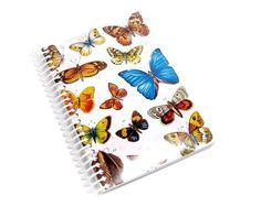 Butterflies  Spiral Notebook 4 x 6 by Ciaffi on Etsy, $11.00