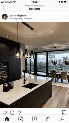 Luxury Kitchen Design, Kitchen Room Design, Interior Design Kitchen, Modern Interior Design, Kitchen Ideas New House, Home Decor Kitchen, Home Kitchens, Kensington House, Open Plan Kitchen Dining Living