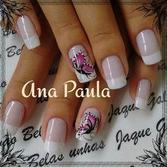 Nail Designs, Hair Beauty, Nail Art, Nails, Butterflies, Pretty Nails, Gorgeous Nails, Nice Nails, Polish Nails
