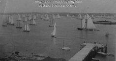 Mackerel fleet, Boothbay Harbor, ca. 1894. Purchase reproductions online, www.VintageMaineImages.com