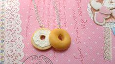 Best Friends Necklaces BFF -  Bagel Besties by Cherrydot.