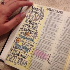 Bible journaling | psalm 139 | search me and know my heart