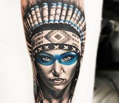 Squaw tattoo by Bolo Art Tattoo | Post 20771
