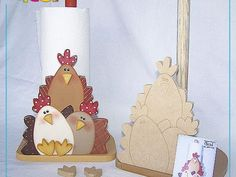 Manualidades country madera - Imagui Arte Country, Country Crafts, Country Decor, Book Crafts, Diy And Crafts, Arts And Crafts, Decorative Household Items, Chickens And Roosters, Country Paintings